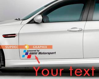 2 powered by Text Motorsport vinyl stickers decals for bmw M3 M5 M6 e36 e46 e92 e60 f10 f15 f16 f30 g05 g20