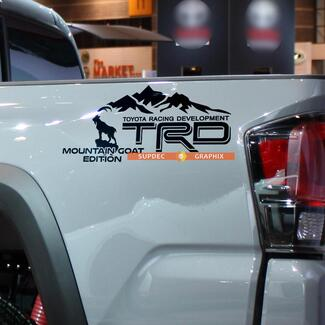 Pair of TRD Mountains Goat Edition Side Vinyl Decals Stickers for Toyota 4Runner Tundra Tacoma FJ Cruiser 2