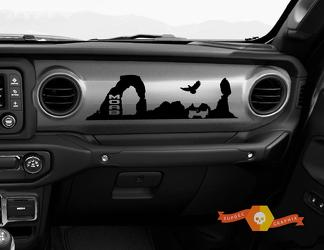 Jeep JT Rubicon Gladiator Dashboard Moab Desert Willys with Scene Vinyl Decal