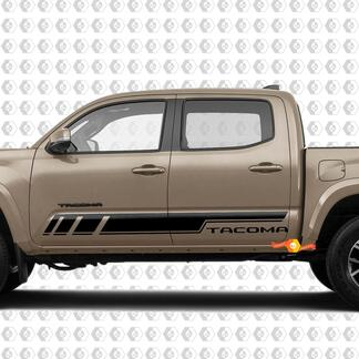 Pair Stripes for Tacoma Side Rocker Panel Vinyl Stickers Decal fit to Toyota Tacoma TRD Off Road Pro Sport