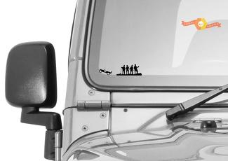 Jeep Windshield Chaser Firefighters Easter Egg Companion Vinyl Decal