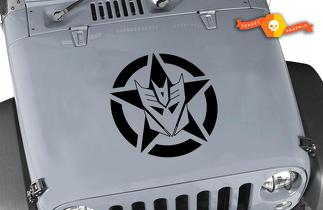 Jeep Wrangler Decepticon Oscar Mike Military Star Vinyl Hood Decal 22