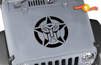 Jeep Wrangler Transformers Autobot Oscar Mike Military Star Vinyl Hood Decal 22