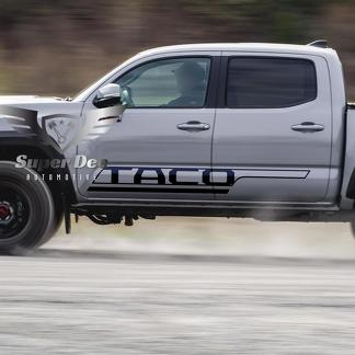 TACO Bed Side Stripes Vinyl Stickers Decal Kit for Tacoma TRD