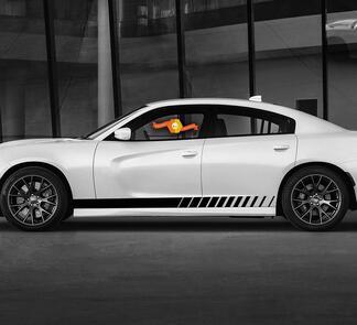Dodge Script Stripe Rocker Panel Seitenband Aufkleber Aufkleber für Hemi Daytona RT GT Mopar Grafiken