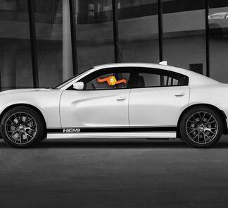 Dodge GT HEMI Streifen Rocker Panel Seitenband Aufkleber Aufkleber für Daytona Mopar Grafiken