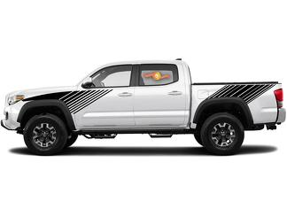 Tacoma Lines Stripes Retro Decal Sticker Graphic Side Bed Stripe Body Kit For Toyota Tacoma 2016-2020