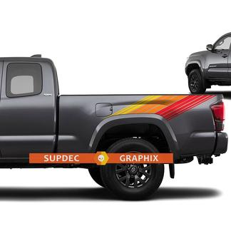 Toyota Tacoma Lines Vintage Retro Stripes Decal Sticker Graphic Side Bed Stripe Body Kit For Tacoma 3d Gen