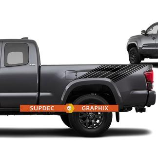 Tacoma Lines Stripes Retro Decal Sticker Graphic Side Bed Stripe Body Kit For Toyota Tacoma 2016-2020 2