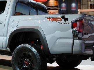 Paar Elchhirsch TRD Offroad Toyota Racing Development Bett Seite LKW Aufkleber Aufkleber für Toyota 4Runner Tundra Tacoma FJ Cruiser 4