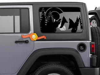 Jeep Wrangler Jk JL 2007-2019 Flag State of Colorado Design Window Hardtop Set Vinyl Decal