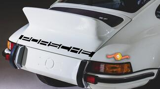 Porsche 911 Rear Stripe Letters Decal Sticker