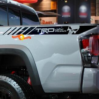 TRD Punisher 4x4 PRO Sport Off Road Side Vinyl Stickers Decal fit to Tacoma 2013 - 2020 or Tundra 2013 - 2020