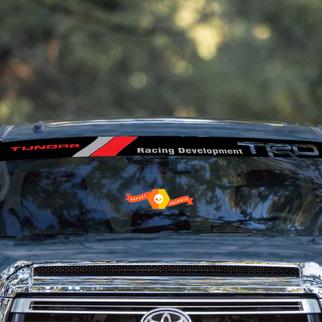 Toyota TRD Tundra Racing Entwicklung Vintage Old Style Logo Windschutzscheibe Aufkleber Aufkleber Sonnenstreifen Visier Windschutzscheibe Banner für Tundra