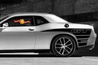2 Seiten Dodge Challenger GT Rückseite Viertelseite Vinyl Aufkleber Grafikaufkleber