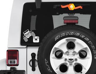 Jeep Wrangler Jeep reed op Instagram Handvat Custom Vinyl Decal TJ JK JL Decal Social Media Vinyl Decal