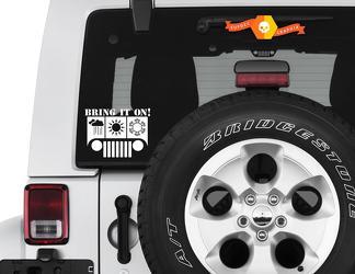 Breng het op jeep Wrangler Vinyl Decal All Season Jeep Vinyl Decal