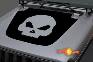 Jeep 2018-2021 Gladiator JT Wrangler JL Jlu Hood Skull Vinyl Decal Sticker Graphics