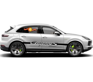Porsche Cayenne S Script Side Stripes Decal Sticker 2003–present