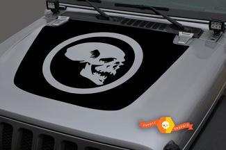 Jeep 2018-2021 Gladiator JT Wrangler JL Jlu Hood Skull Vinyl Decal Sticker Grafisch