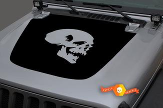 Jeep 2018-2021 Gladiator Wrangler JL Jlu JT Hood Skull Vinyl Decal Sticker Grafisch