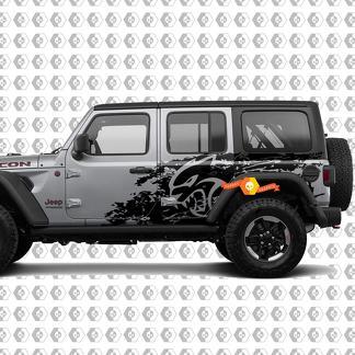 Jeep Wrangler Unbegrenzte Hellcat Stil Splash Grunge Bett Seite Nacht Kit Hell Cat Vinyl Aufkleber Grafik