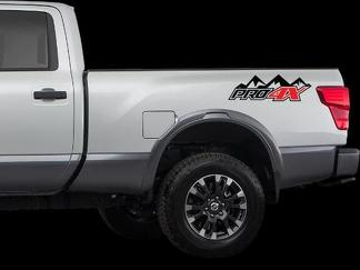 Nissan PRO 4X Mountains 4x4 off road Decals Stickers Nissan Titan 2016 - now