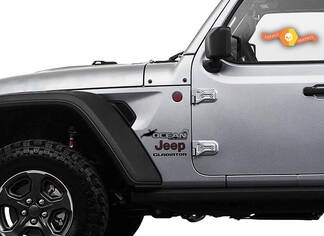 Jeep Wrangler Gladiator Kotflügel Ocean Blue Edition Wrangler JL JLU JT Vinyl Aufkleber Kit