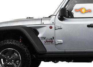 Jeep Wrangler Gladiator Fender Silve Bullet Edition Wrangler JL JLU JT Vinyl Decal Kit