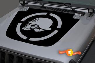 Jeep 2018-2021 Gladiator Wrangler JL Jlu JT Hood War Metal Mulisha Skull Black Mark Vinyl Decal Sticker Grafisch