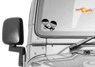 Jeep Windshield Easter Egg Corner Rock Willys 1941 War air drop Vinyl Decal
