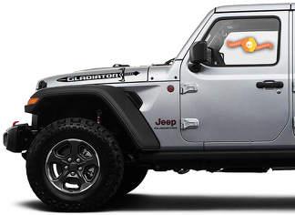 2 Jeep Hood Gladiator 2020 JT Sword Vinyl Graphics Decals Sticker