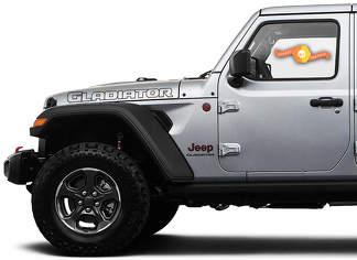 2 Jeep Hood Gladiator 2020 JT Gliederung Typ 2 Vinyl Graphics Aufkleber Aufkleber