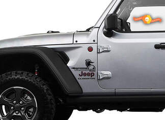 Jeep Wrangler Gladiator Fender spear sword  Wrangler JL JLU JT Vinyl Decal Kit