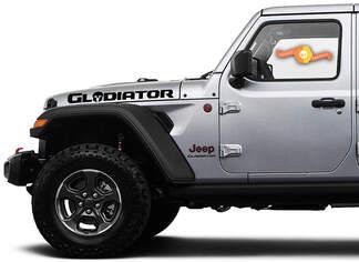 Paar Jeep Hood Gladiator Skull 2020 JT Vinyl Graphics Decals Sticker
