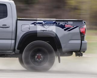 TRD 4x4 PRO Sport Offroad USA Flaggenseitige Vinyl-Aufkleber Aufkleber passend für Tacoma 2013 - 2020 oder Tundra 2013 - 2020