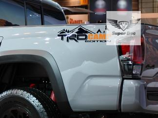 TRD 4x4 PRO Sport Off Road Camp Edition Mountains Forest Side Vinyl Stickers Decal fit to Tacoma Tundra 4Runner