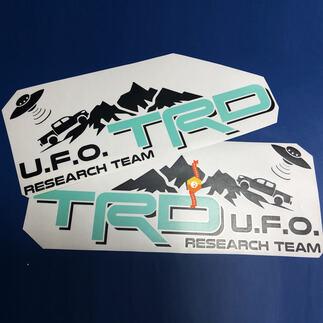 Paar TRD UFO Research Team Seiten Vinyl Aufkleber Aufkleber für Toyota Tacoma 2 Farben