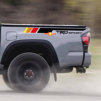 Paar TRD Sport PRO Offroad Vintage Streifen für Tacoma Side Vinyl Aufkleber Aufkleber passend zu Toyota Tacoma 2005–2020