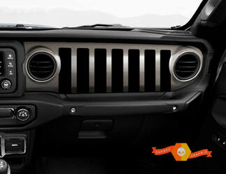 Jeep JT Rubicon Gladiator Dashboard JLJLUJT Jeep Grill Vinyl Decal