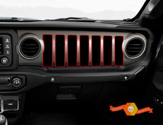 Jeep JT Rubicon Gladiator Dashboard JLJLUJT Jeep Grill 2 colors Vinyl Decal