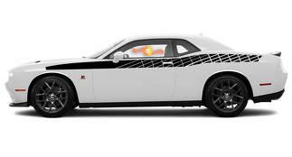 2 X Dodge Challenger R / T-Streifenkamm-Scat-Pack-Aufkleber Stripe Vinyl Graphics Scatpack