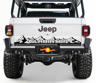 Bed Tailgate Jeep Wrangler JL JLU jls jts Gladiator Rubicon Mountains Vinyl Decal for 2018-2021