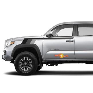 Toyota TRD old style Tacoma Monochrome style grey shadows Graphics side decal stripe decal
