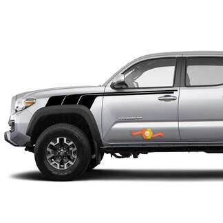 Toyota Trd old style Tacoma vintage style One Color  Graphics side decal stripe decal
