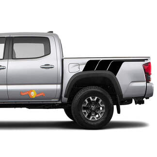 Toyota Trd old style Rear Side Tacoma vintage style One Color Graphics side decal stripe decal