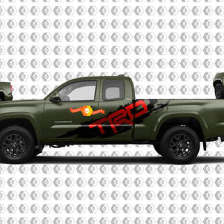 Pair TRD Sport PRO Off Road Splash 2 colors for Tacoma Side Vinyl Stickers Decal fit to Toyota Tacoma Tundra