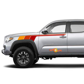 Toyota Tacoma TRD Racing Ivan Stewart retro vintage stripe kit Sport 4x4 Off Road PRO Taco Troopers decal