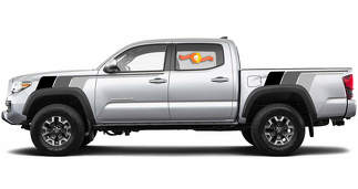 Kit Of Toyota Tacoma TRD Back To The Future monochrome retro vintage stripe kit Sport 4x4 Off Road PRO decal