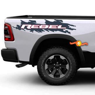 2017 2018 2019 Dodge Ram Rebel Bed Side Aufkleber Aufkleber Grafiken Vinyl Bedside 3 Farben